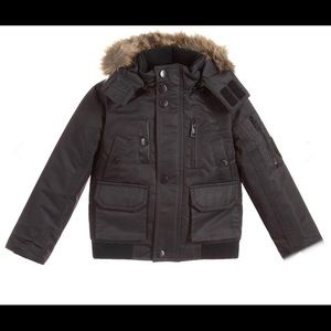 Black padded jacket for boys by Diesel size 8